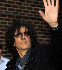 Howard Stern. Celebrities at The Ed Sullivan Theater to appear on 'The Late Show with David Letterman'. New York City, USA - 01.02.12.