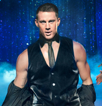Channing Tatum arrived at the David Letterman Show to promote his new film Magic Mike