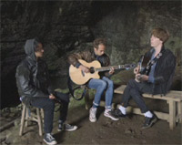 Mystery Jets Playing Live At 'The Devil's Arse'