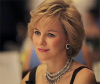 'First shot of Naomi Watts as Princess Diana in the film Caught In Flight