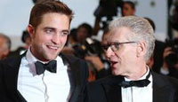 Robert Pattinson and David Cronenberg were out for a premiere screening and Q&A for their Cannes hit Cosmopolis