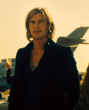 Chris Hemsworth As James Hunt in Rush