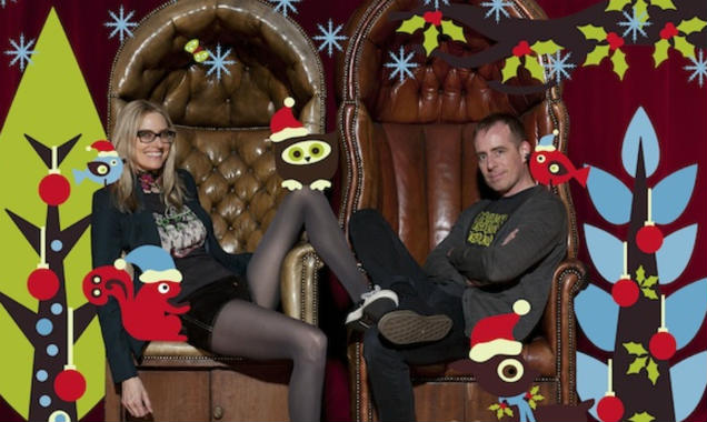 Aimee Mann and Ted Leo of The Both - Christmas promo