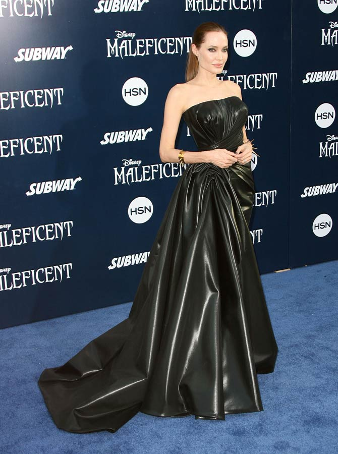 Angelina Jolie at the Maleficent premiere