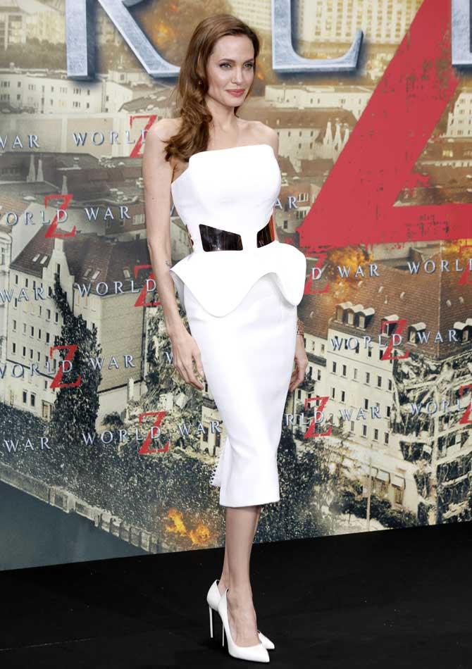 Angelina Jolie at the World War Z premiere