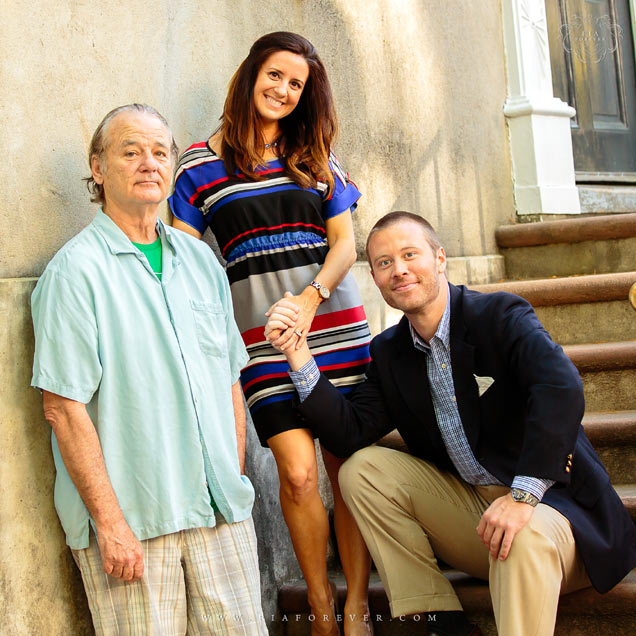 Bill Murray engagement photos