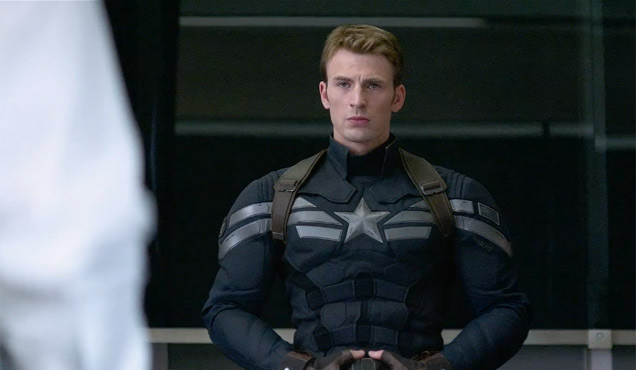 Chris Evans, Captain America Still