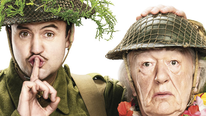 Daniel Mays and Michael Gambon in 'Dad's Army'