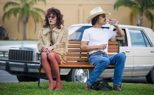 Jared Leto as Rayon and Matthew McConaughey as Ron Woodroof in Dallas Buyers Club