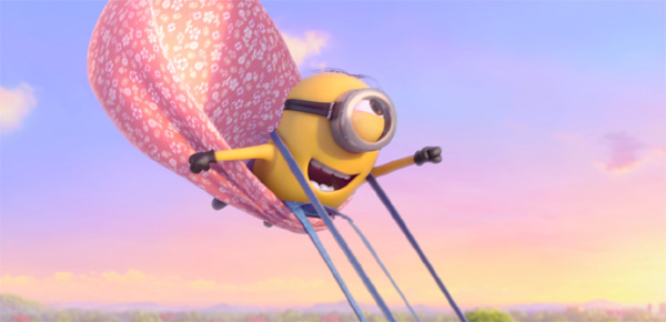 One of the Minions doing his best Superman Impression in Despicable Me 2