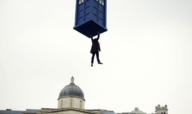 Doctor Who in mid air