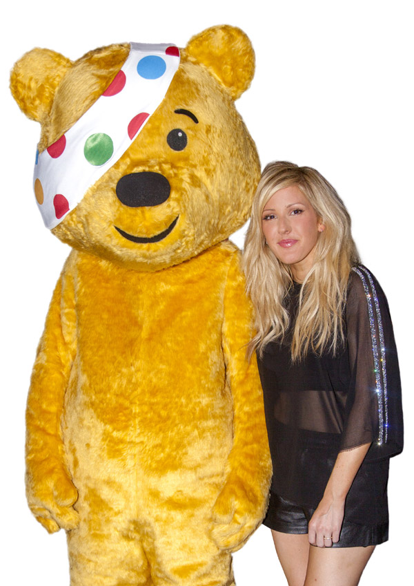 Ellie Goulding and Pudsey Bear