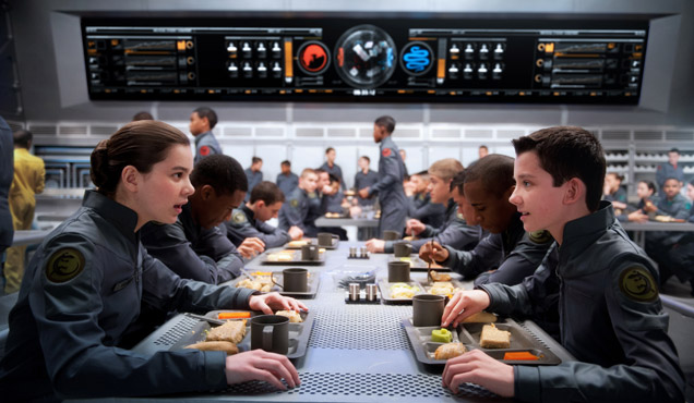 Hailee Steinfeld and Asa Butterfield star in Ender's Game
