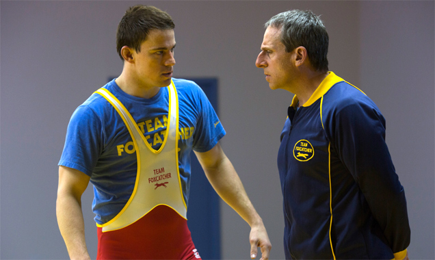 Channing Tatum and Steve Carell in 'Foxcatcher'