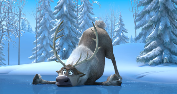 Sven struggles in the 'Frozen' conditions