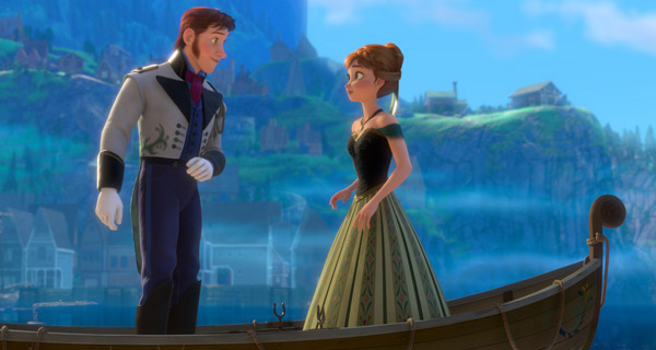 Anna meets a handsome stranger in 'Frozen'
