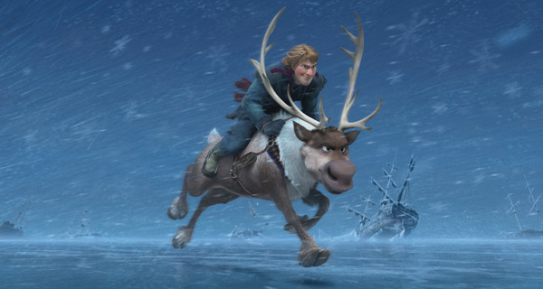 Kristoff and his faithful reindeer Sven in 'Frozen'