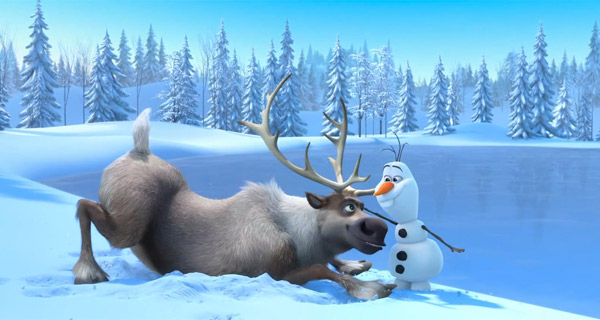 Sven and Olaf become friends in 'Frozen'