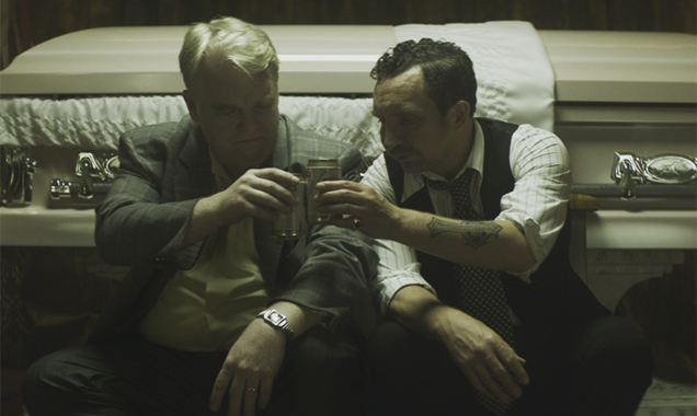 Philip Seymour Hoffman and Eddie Marsan