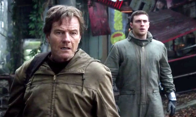 Bryan Cranston and Aaron Taylor Johnson in Godzilla