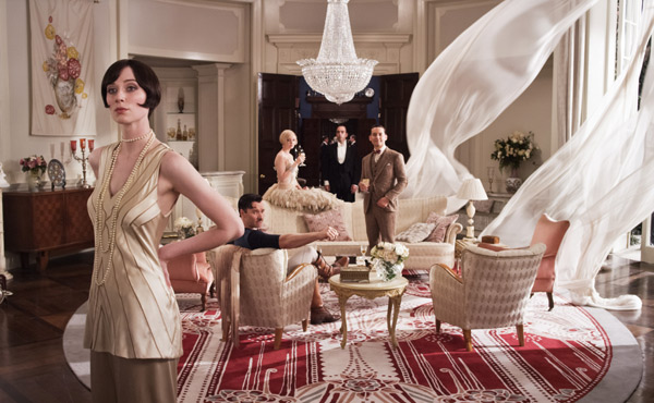 A grand scene on the set of The Great Gatsby