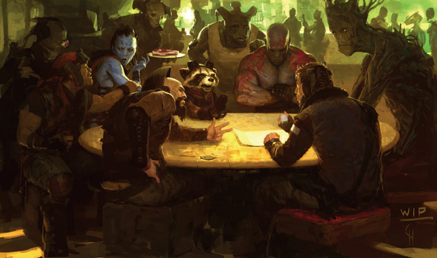 Guardians Of The Galaxy Table Concept Graphics