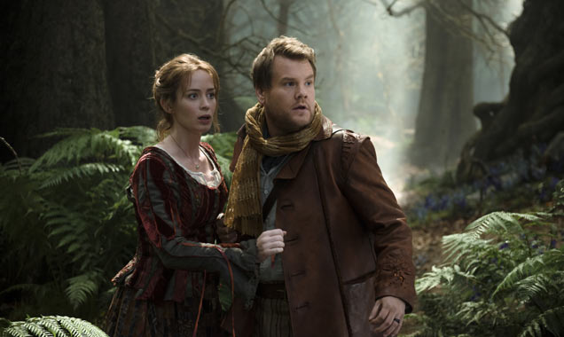 Emily Blunt and James Corden into the woods
