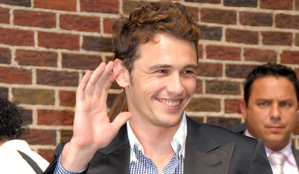 James Franco Outside Ed Sullivan Theater
