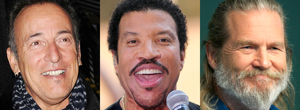 Bruce Springsteen, Lionel Richie, Jeff Bridges