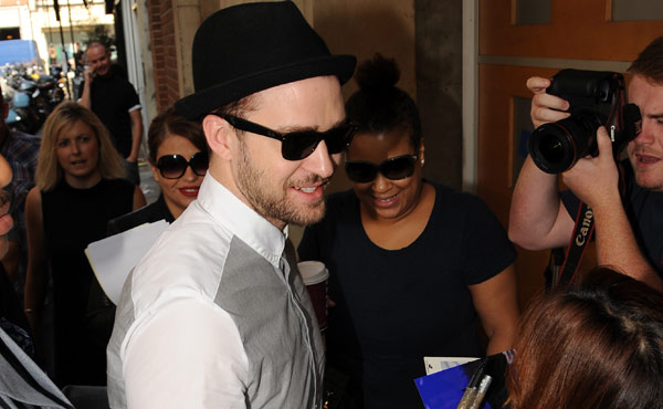 Justin Timberlake out and about promoting his new film Runner Runner