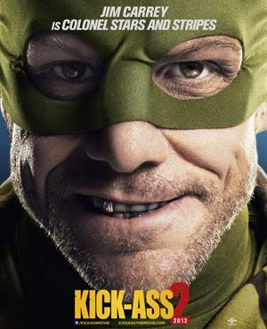 Kick-Ass 2 Poster with Jim Carrey