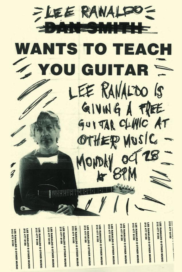 Lee Ranaldo Poster