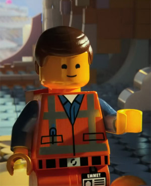 Chris Pratt as Emmet in The Lego Movie