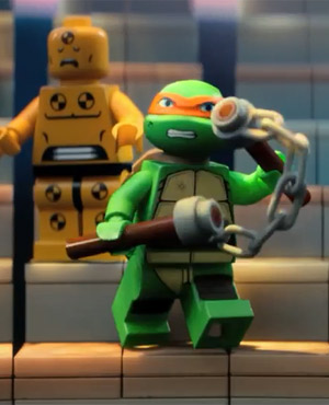 Michelangelo in The Lego Movie