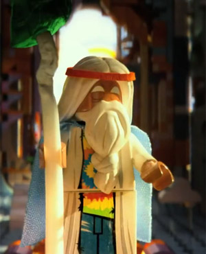 Morgan Freeman as Vitruvius in The Lego Movie