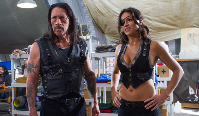 Danny Trejo and Michelle Rodriguez