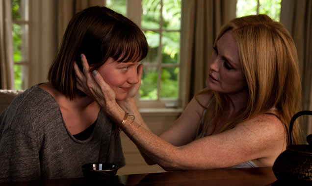 Julianne Moore appears opposite Mia Wasikowska in 'Maps To The Stars'