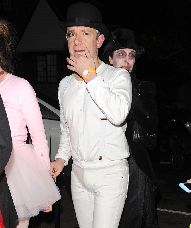 Martin Freeman  sc 1 st  Contactmusic.com & 10 Best (And Creepiest) Celebrity Halloween Costumes Of 2015 ...