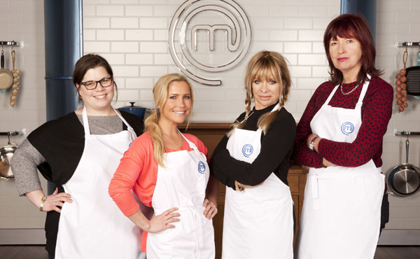 The contestants in round one of Celebrity Masterchef!