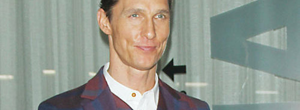 Matthew McConaughey at the premiere of Mud