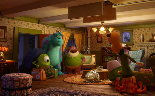 Mike and Sulley enter the Oozma Kappa house