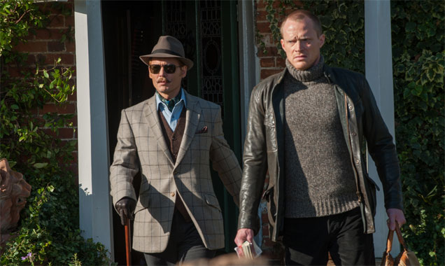 Johnny Depp and co-star Paul Bettany in Mortdecai