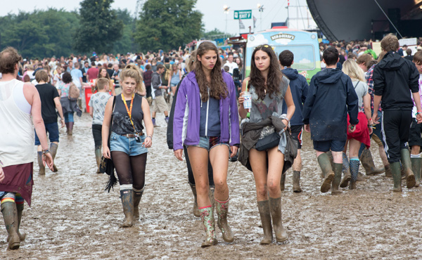 The start of the mud at Leeds Festival 2013
