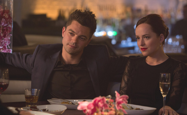 Dominic Cooper and Dakota Johnson