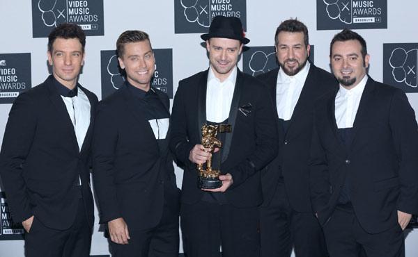 Justin Timberlake & NSYNC At The 2013 MTV Music Video Awards