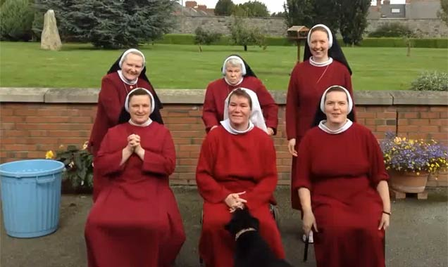 Nuns take part in the ALS Ice Bucket Challenge