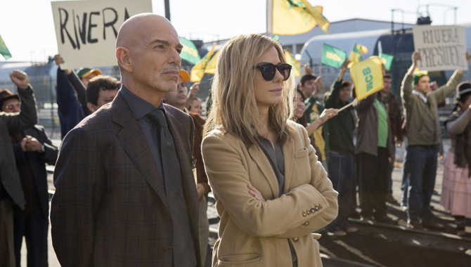 Sandra Bullock and Billy Bob Thornton in 'Our Brand Is Crisis'