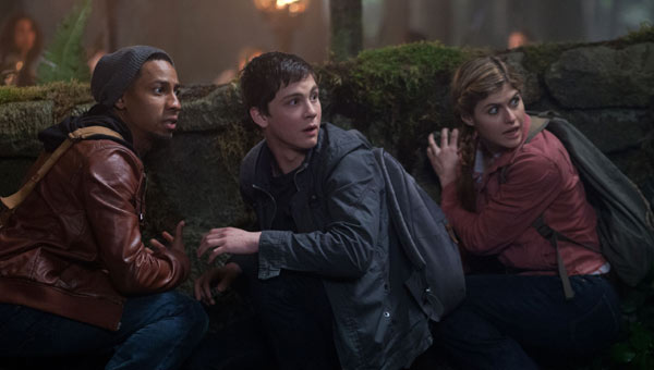 Brandon T. Jackson as Grover Underwood, Logan Lerman as Percy Jackson and Alexandra Daddario as Annabeth Chase in Percy Jackson: Sea of Monsters