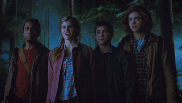 Brandon T. Jackson, Alexandra Daddario, Douglas Smith and Logan Lerman in Percy Jackson: Sea of Monsters