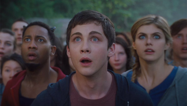 Brandon T. Jackson as Grover Underwood, Logan Lerman as Percy Jackson and Alexandra Daddario as Annabeth Chase